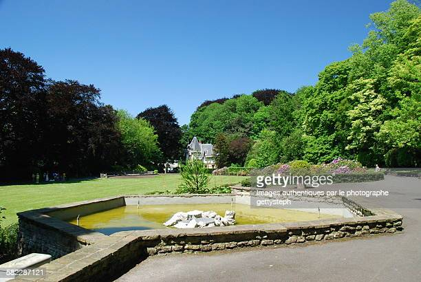 the water pool of colonial park - laeken stock pictures, royalty-free photos & images