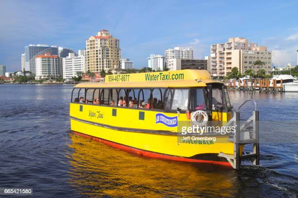 The water taxi at New River Sound