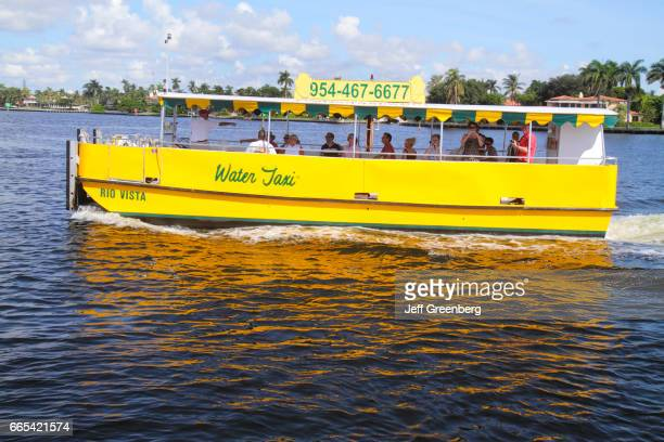 The Water Taxi on the Intracoastal Waterway at Fort Lauderdale