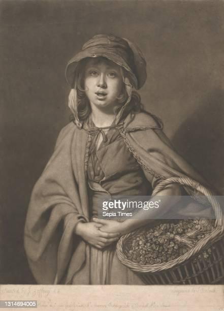 The Watercress Girl, John Raphael Smith, 1752–1812, British, after Johan Joseph Zoffany RA, 1733–1810, German, active in Britain , Published by John...