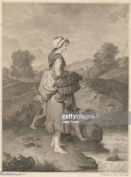 The Watercress Girl, Print made by Francesco Bartolozzi RA, 1728–1815, Italian, active in Britain , after Francis Wheatley, 1747–1801, British,...