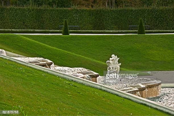 The waterfall in the garden of the Belvedere Vienna 2013 Photograph by Gerhard Trumler