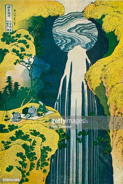 The waterfall of Amida behind the Kiso Road c1832 After a colour woodcut by Katsushika Hokusai Original work housed in The British Museum From The...