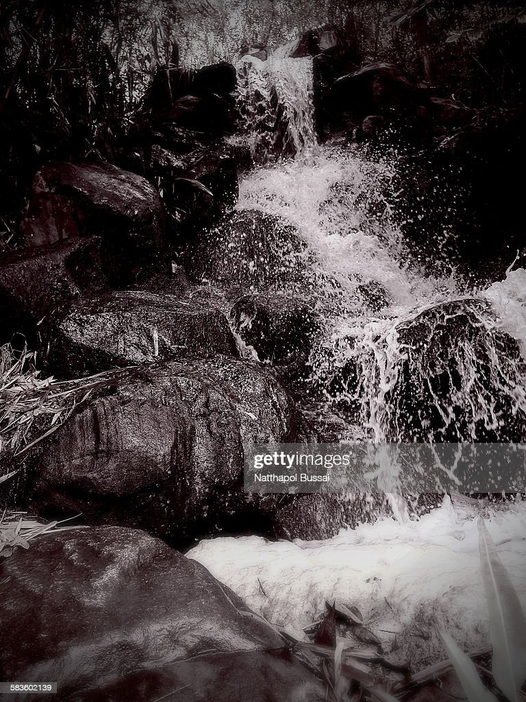 The waterfall splashing , Thailand tourism : Stock Photo