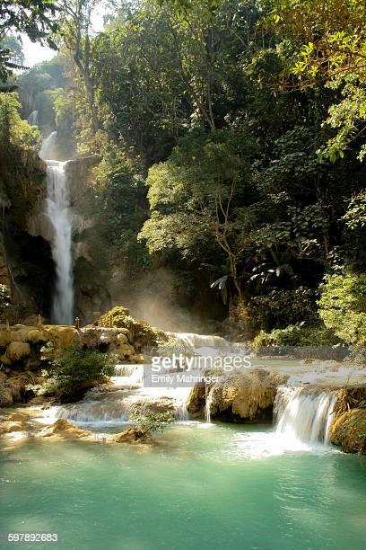 The waterfall Tad Kuang Si in Laos, Luang Prabang