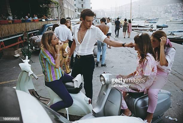 The waterfront at Porto Ercole, Italy, August 1967.