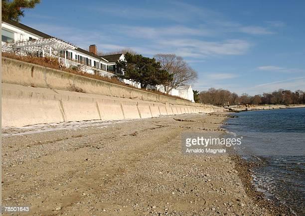 The waterfront home of film producer Harvey Weinstein before his marriage to British fashion designer Georgina Chapman December 15 2007 in Westport...