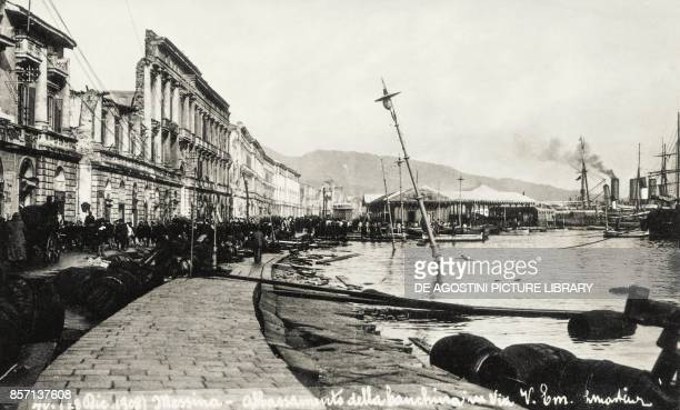 The waterfront in Messina after the earthquake on December 28 Italy 20th century