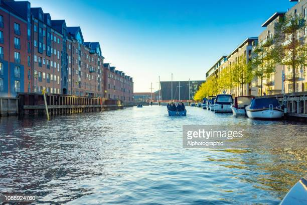 The waterfront on the main canal in Copenhagen