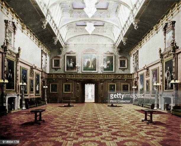 The Waterloo Chamber Windsor Castle', c1899, . The Waterloo chamber formerly the Grand Dining room, decorated in the Elizabethan style with wooden...