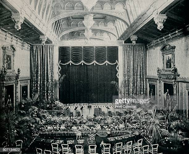 'The Waterloo Chamber Windsor Castle Fitted as a theatre for the State Plays of 1891' c1891 Queen Victoria commanded the Inspector of Windsor to...