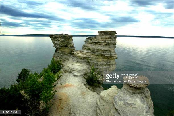 The waters of Lake Superior as seen from Pictured Rocks National Lakeshore Park in Michigan's U.P.