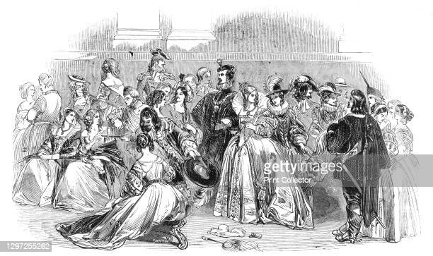 The Waverley Ball, 1844. Costume ball held at Willis's Rooms, King St, St James's, London: '...The object of this truly superb ball, was to raise a...