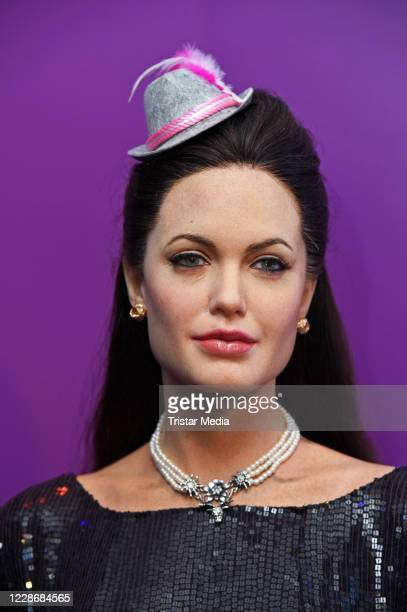 "The wax figure of Angelina Jolie during the Oktoberfest ""Tussauds'zapft is!"" event at Madame Tussauds on September 24, 2020 in Berlin, Germany."
