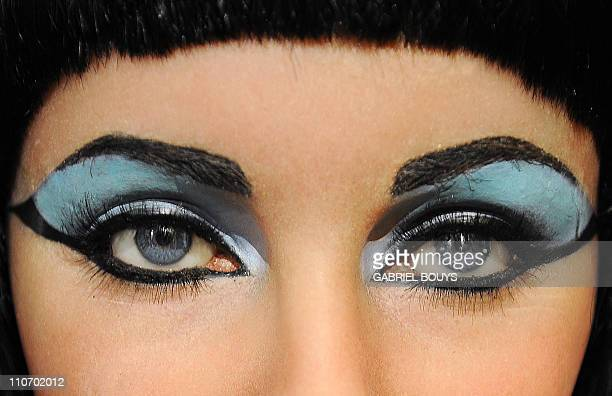 "The wax figure of Elizabeth Taylor in one of her most famous roles ""Cleopatra"" is seen at Madame Tussauds in Hollywood California on March 23 2011..."