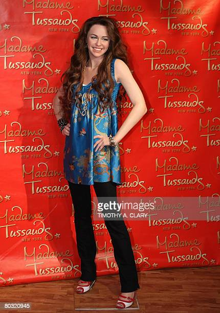 The wax figure of Miley Cyrus star of the hit show Hannah Montana is unveiled to the media for her world debut at Madame Tussauds New York March 20...