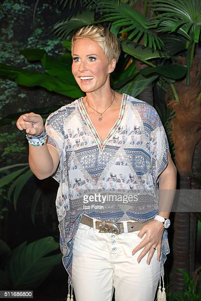 The wax figure of Sonja Zietlow during the Sonja Zietlow Presents Her Own Wax Figure At Madame Tussauds on February 22 2016 in Berlin Germany