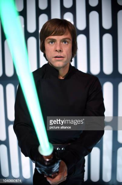 The wax figure of the Star Wars saga 'Luke Skywalker' is on display in preparation for the world premiere exhibition 'Star Wars at Madame Tussauds'...