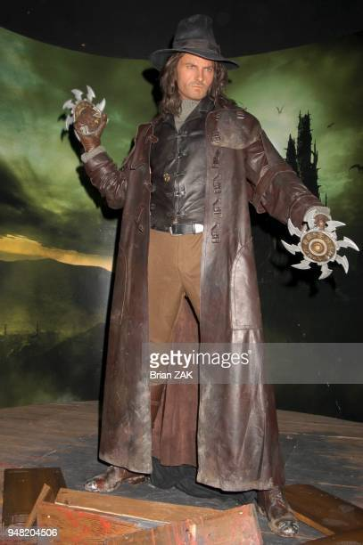 The wax installment of Van Helsing at Madame Tussauds New York launching the terrifying new interactive experience 'Chamber Live featuring Van...