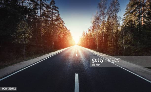 the way forward at sunset - success stock pictures, royalty-free photos & images