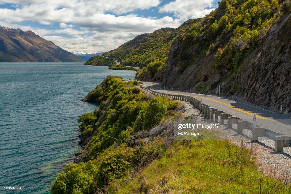 The way forward,South island scenery,New Zealand : Stock-Foto