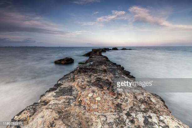 the way in the sea - alicante stock pictures, royalty-free photos & images