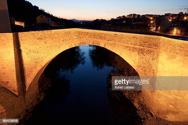 The way of Saint James El Bierzo Bridge of La Puebla River Boeza El Bierzo Leon