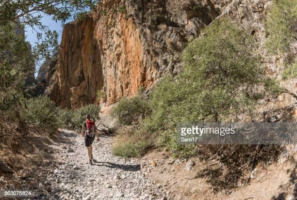 The way through Aradena Gorge, Crete.