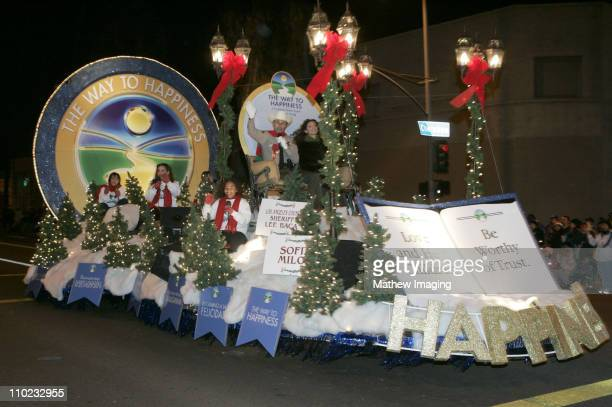 """""""The Way To Happiness,"""" float with Los Angeles County Sheriff Lee Baca"""
