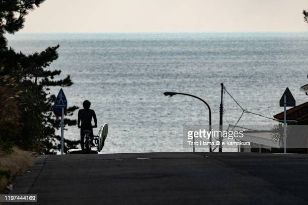 the way to the beach in kanagawa prefecture of japan - 神奈川県 ストックフォトと画像