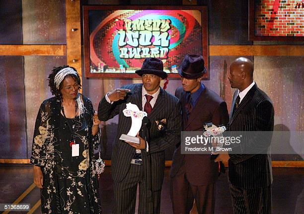 The Wayans Family accepts their award for BET Comedy Icon Award onstage at the FirstEver BET Comedy Awards at the Pasadena Civic Auditorium September...