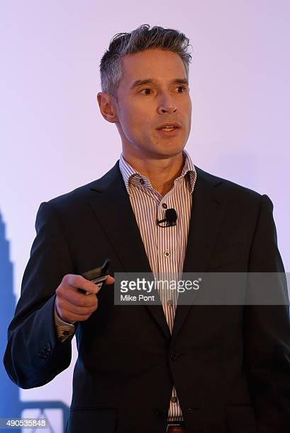 The Weather Company General Manager of AdFX Domenic Venuto speaks onstage at the XX panel during Advertising Week 2015 AWXII at the ADARA Stage at...