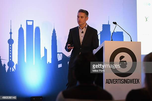 The Weather Company General Manager of AdFX Domenic Venuto speaks onstage at the Oz Behind the Curtain There's No Place Like Hone presentation...