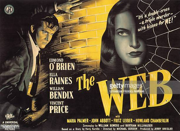 The Web starring Edmond O'Brien Ella Raines William Bendix and Vincent Price a 1947 black and white thriller