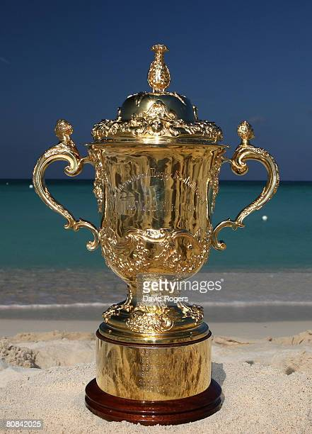 The Webb Ellis Cup in the Caribbean for the first time ahead of the opening qualifying game of the 2011 IRB World Cup between the host national...