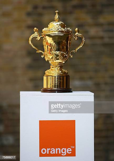 The Webb Ellis Cup is seen at Orange's Tackle The Trophy Event at The Brewery on July 31 2007 in London England As Tournament sponsor of the Rugby...