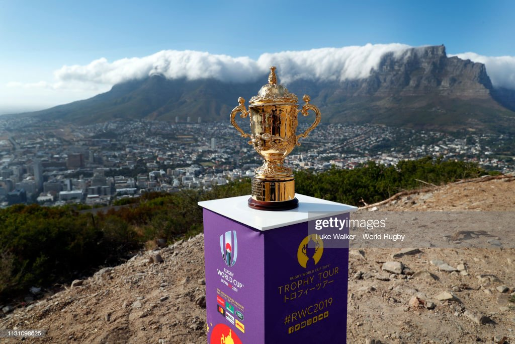 ZAF: Rugby World Cup 2019 Trophy Tour - South Africa: Day One
