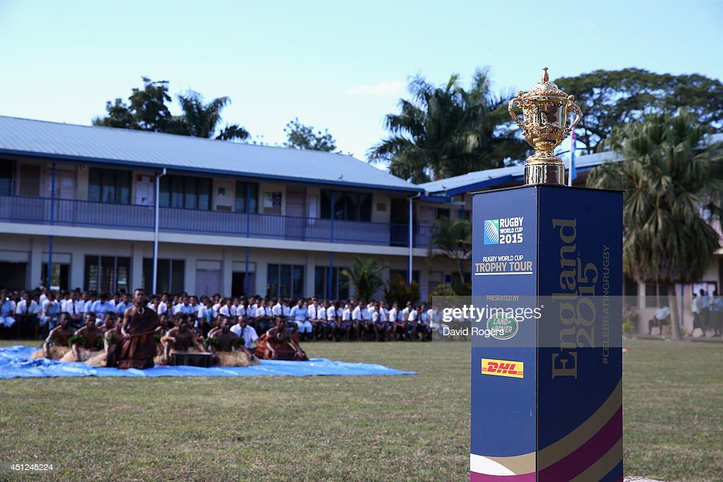 Rugby World Cup Trophy Tour - Fiji : News Photo
