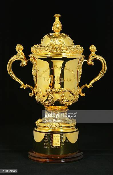 The Webb Ellis Trophy pictured at the headquarters of the International Rugby Board on August 11 2004 in Dublin Ireland