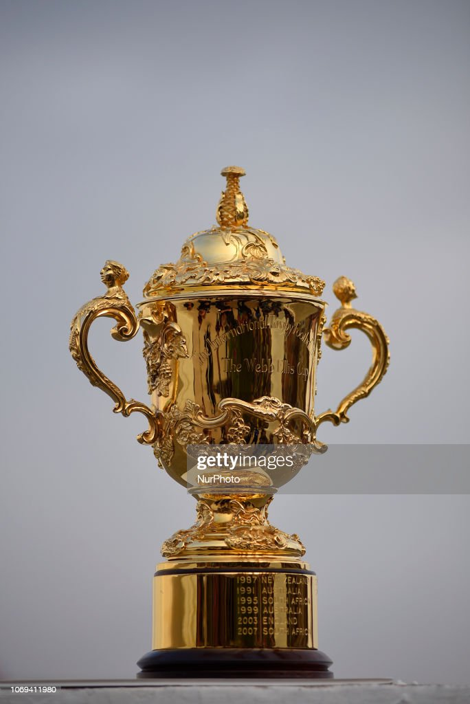 The Webb Elllis Rugby World Cup 2019 Trophy Is Pictured Infront News Photo Getty Images