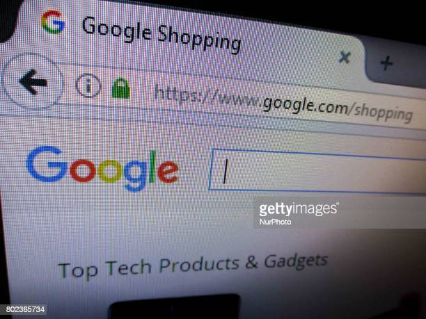 The website of Google Shopping service is seen in Manila Philippines on Tuesday June 27 2017 According to news reports the European Commission has...
