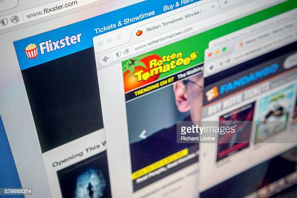The websites of Fandango Flixster and Rotten Tomatoes are seen on a computer screen on Wednesday February 17 2016 Fandango owned by Comcast has...