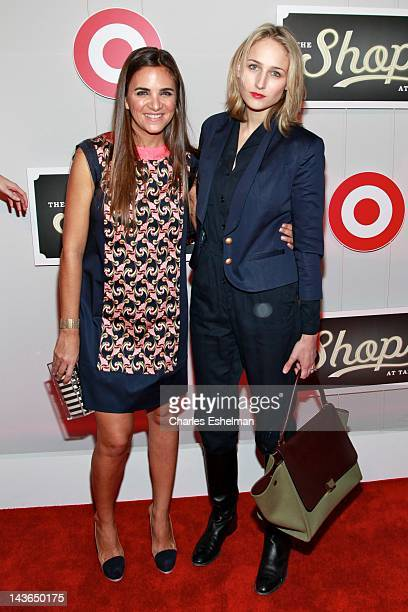 The Webster founder CEO Laure Heriard Dubreuil and actress Leelee Sobieski attend The Shops At Target Launch Part on May 1 2012 in New York United...