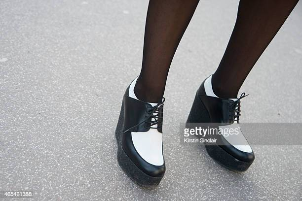 The Webster owner Laure Heriard Dubreuil Celine shoes on day 4 of Paris Collections Women on March 06 2015 in Paris France