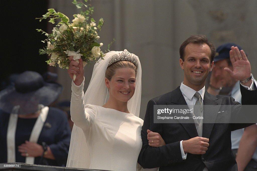 TATIANA OF LIECHTENSTEIN & P.VON LATTORFF MARRY : News Photo