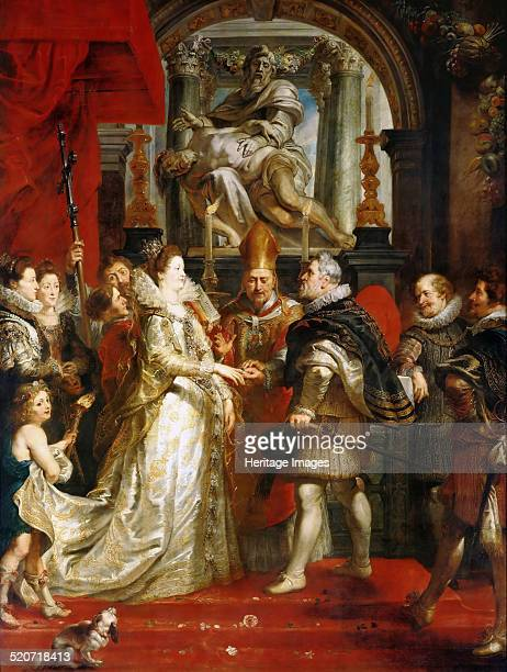 The Wedding by Proxy of Marie de' Medici to King Henry IV . Found in the collection of Louvre, Paris.