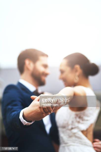 the wedding dance is the first step of marriage - married stock pictures, royalty-free photos & images