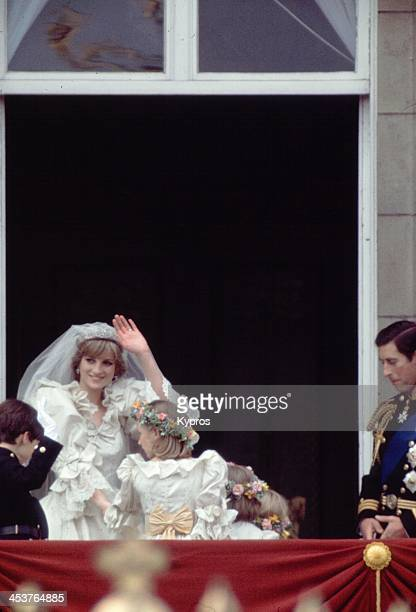 The wedding day of Charles Prince of Wales and Lady Diana Spencer Buckingham Palace London 29th July 1981