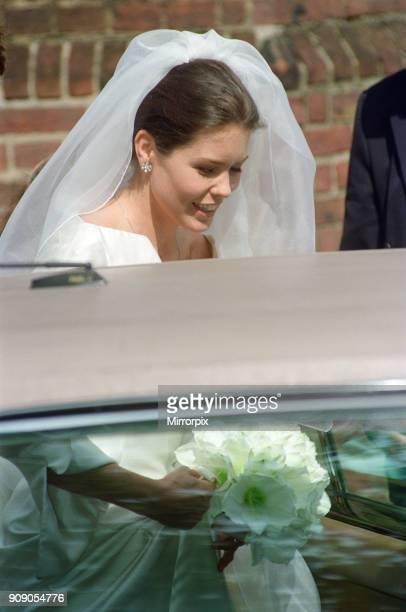 The wedding day of designer Samantha Shaw Samantha Shaw designed the wedding dress for Sophie RhysJones 27th May 1999