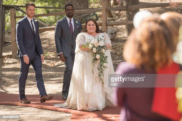 US The Wedding Episode 218 Pictured Justin Hartley as Kevin Sterling K Brown as Randall Chrissy Metz as Kate